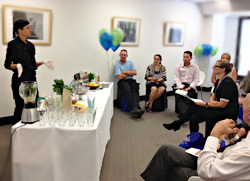Healthy cooking demonstration in the workplace Perth