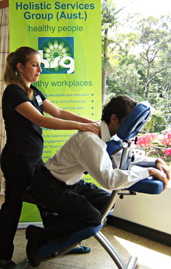 seated massage melbourne sydney brisbane